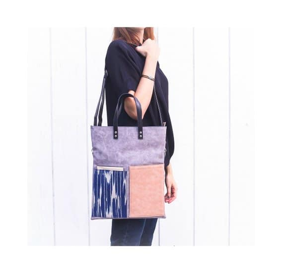 Etsy - Leather crossbody bag made with vegan leather