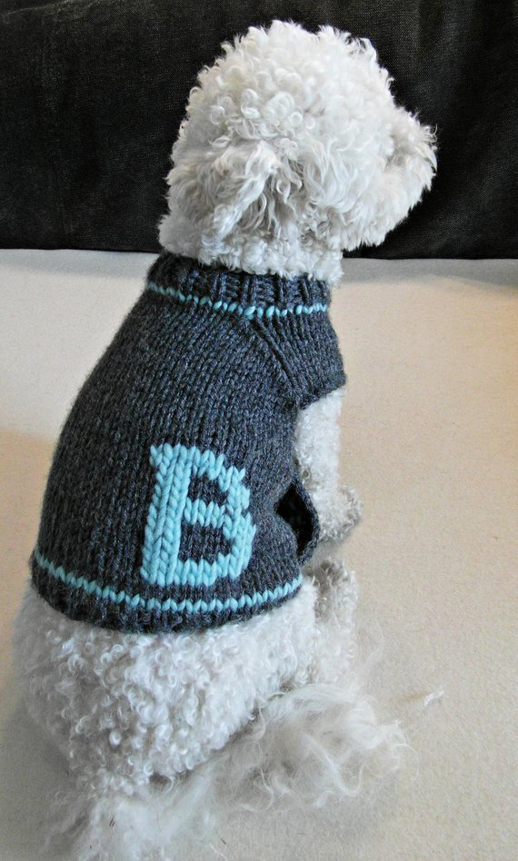 Personalized dog clothing from Etsy #pets #dogclothes #dogsweater #personalized