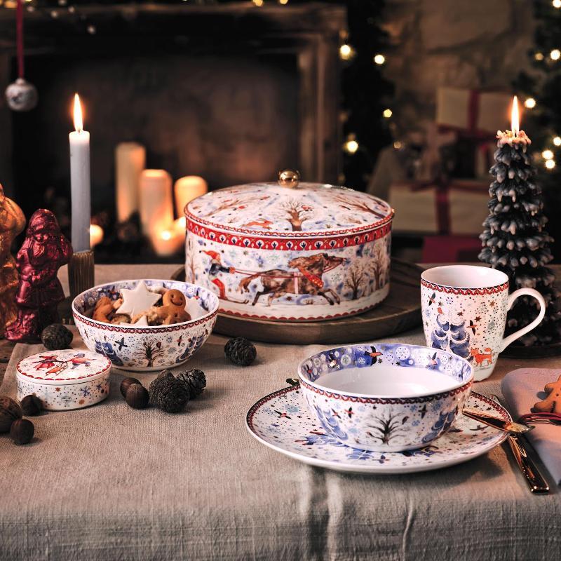 Hutschenreuther winter pleasures at porzellantreff.de #porcelain #mugs #Christmas #teacups
