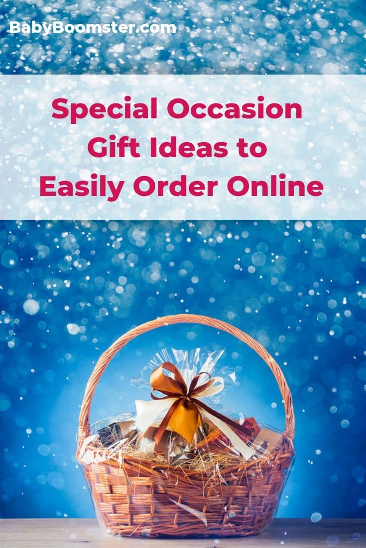 Take the hassle out of shopping for Special Occasion gifts by ordering them easily online. It will save you time and aggravation. Enjoy these gift ideas. #giftideas #SpecialOccasion #specialoccasiongifts #onlineshopping
