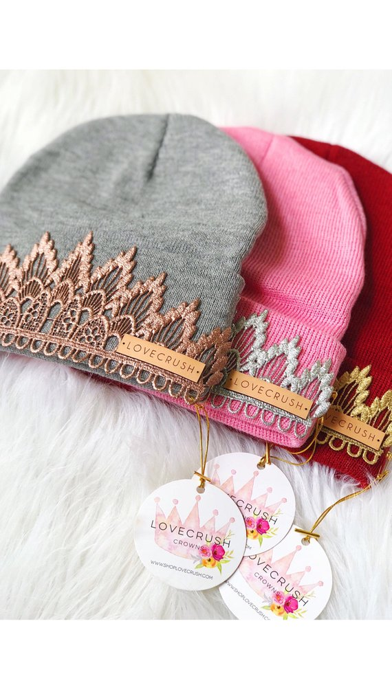 Etsy - These tiara #beanies will not only keep you warm but will make you feel like a queen #winterclothes #hat #fashionover50 #styleover50