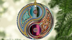 Etsy Yin Yang Porcelain Christmas Tree Ornament - Photo c/o Etsy