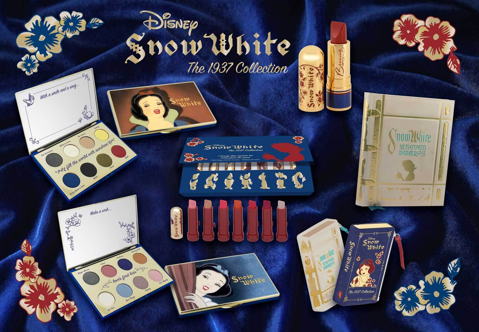 Snow White Collection from Besame Cosmetics celebrating the 80th anniversary of Snow White and the Seven Dwarfs by Disney. #cosmetics #vintage #snowwhite #makeup #vintagemakeup