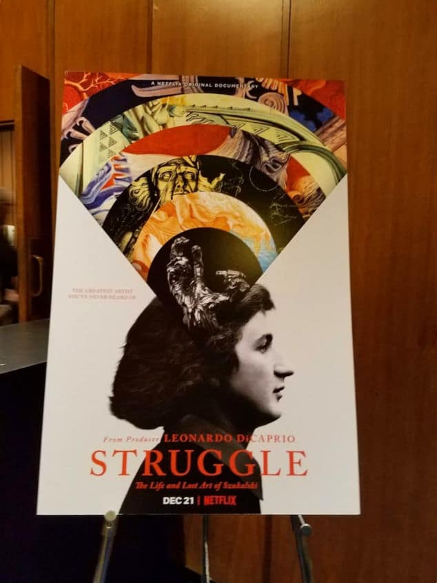 Lobby card for the documentary film Struggle - The life and lost art of Stanislav #Szukalski #art #artist #sculptor #lostartist #Polishartist