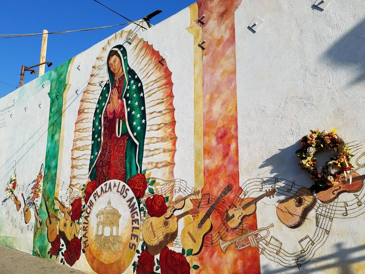 Mural at Mariachi Plaza in Boyle Heights - #losangeles #streetart #mural #wallart #chicano #losangeles