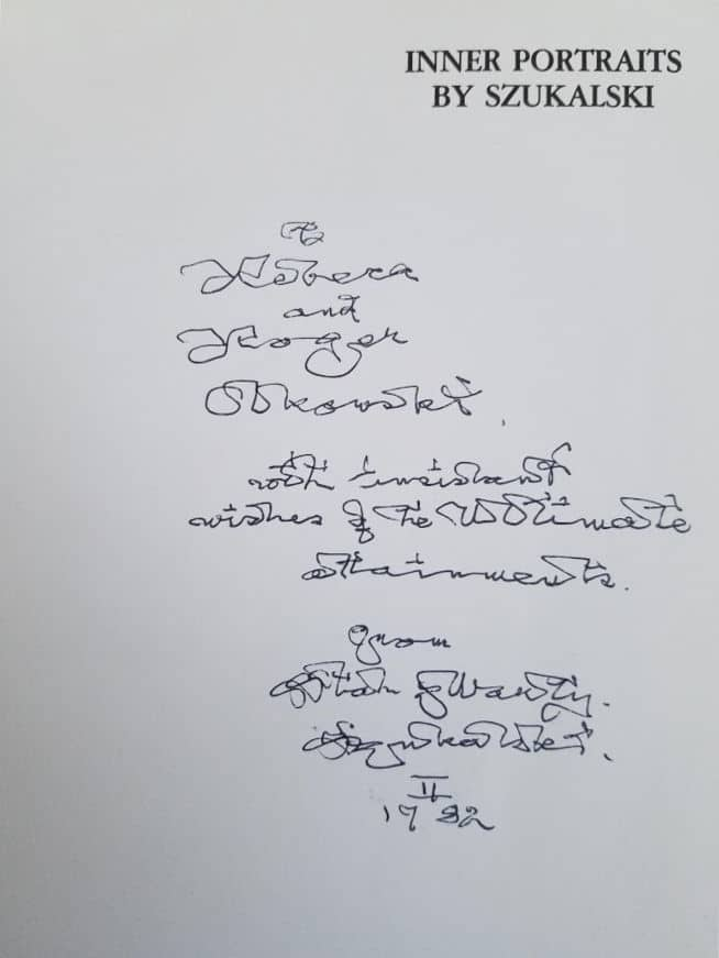 The unique handwriting of Stanislav Szukalski - Polish artist and sculptor