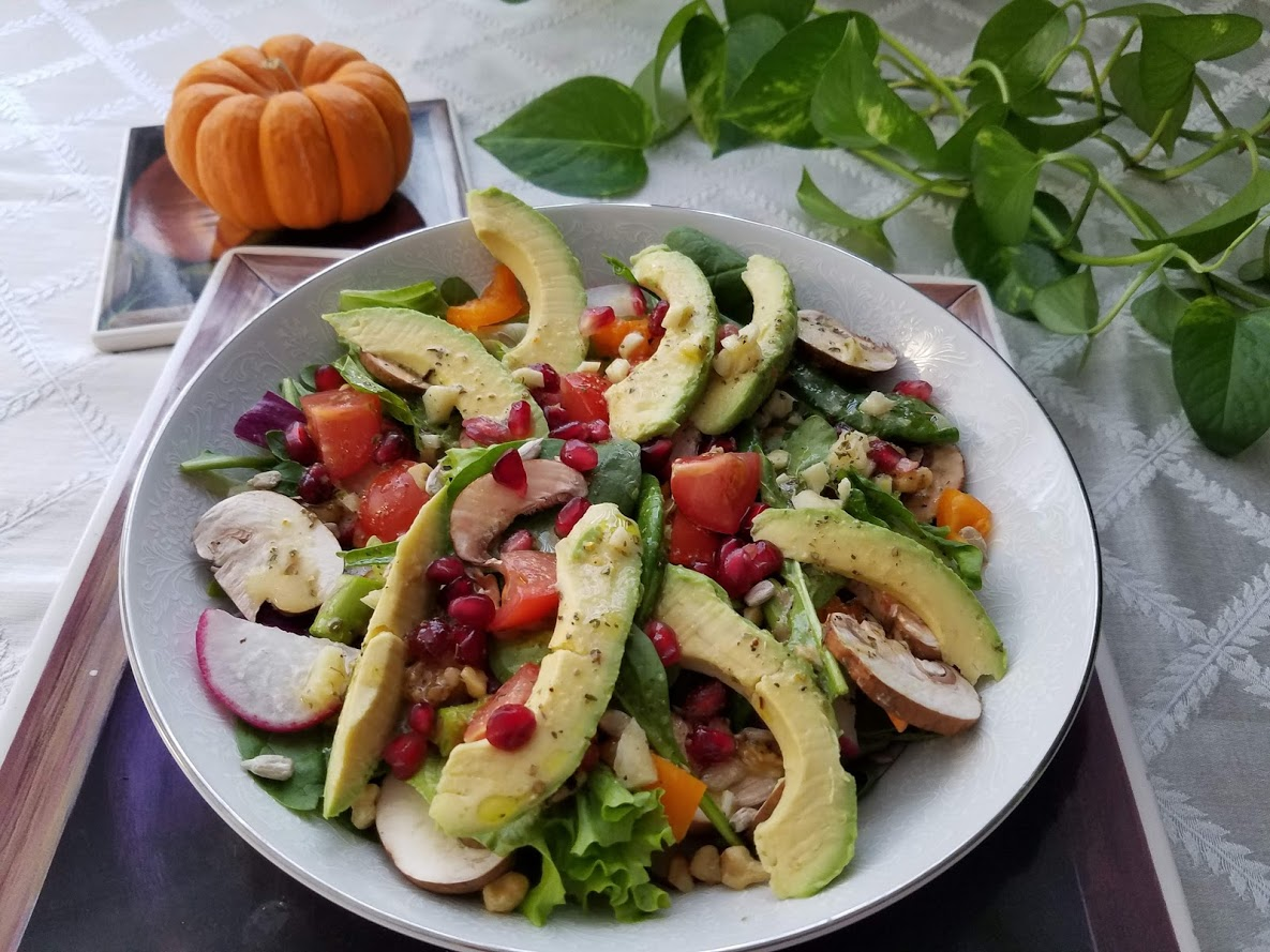 Health Boosting Salad with cancer fighting vegetables