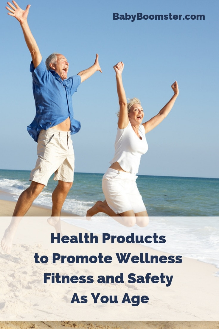 Health Products to Promote Wellness Fitness and Safety As You Age #babyboomers #boomers #over50 #healthproducts #aging #medical #safety #fitnessover50