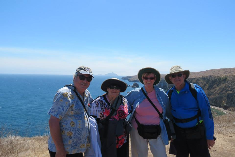 Hiking with Baby Boomer friends in the Channel Islands near Ventura, California