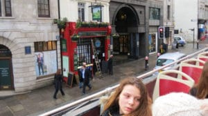 Passing by the Tipperary Pub in London on the Big Bus Tours London