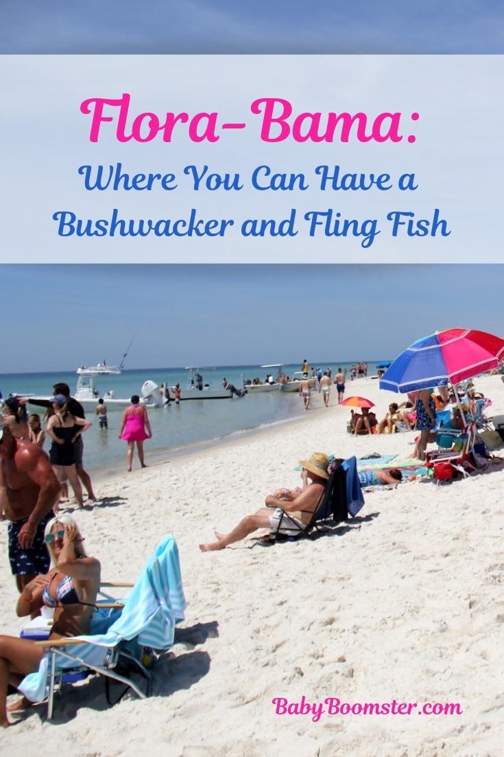 Flora Bama Bar - Home of the Bushwacker cocktail and the mullet toss between Alabama and Florida #floribama #Alabama #fishtoss