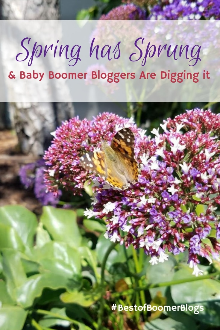Spring has sprung and Baby Boomer Bloggers are digging it. A collection of posts from #bestofboomerblogs #babyboomers #babyboomerbloggers #boomers #midlife