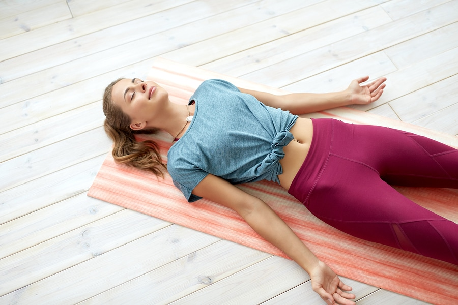 Corpse pose - Yoga for women over 50