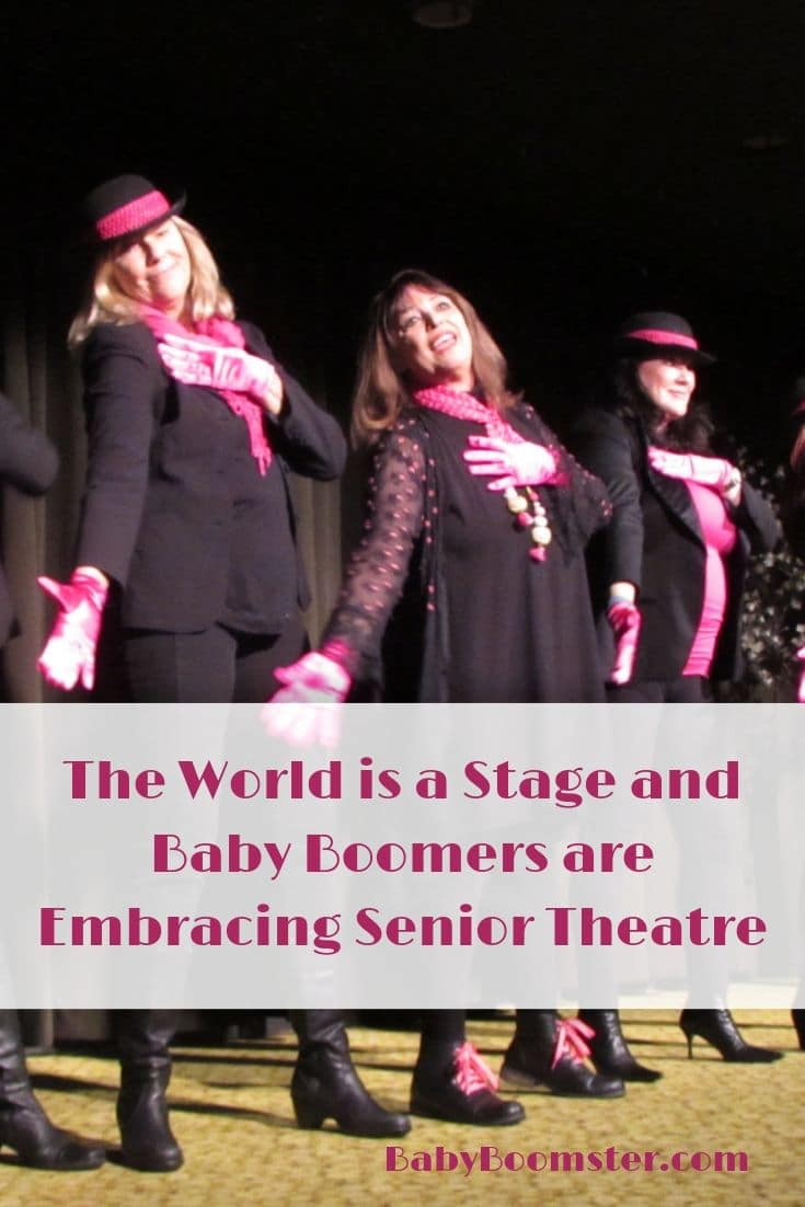 Baby Boomers are finding the time in retirement to enjoy performing in Senior Theatre and ArtAge Senior Theatre Resource Center has everything you need for plays, sketches, and support #seniortheatre #theatre #theater #babyboomers #performers j