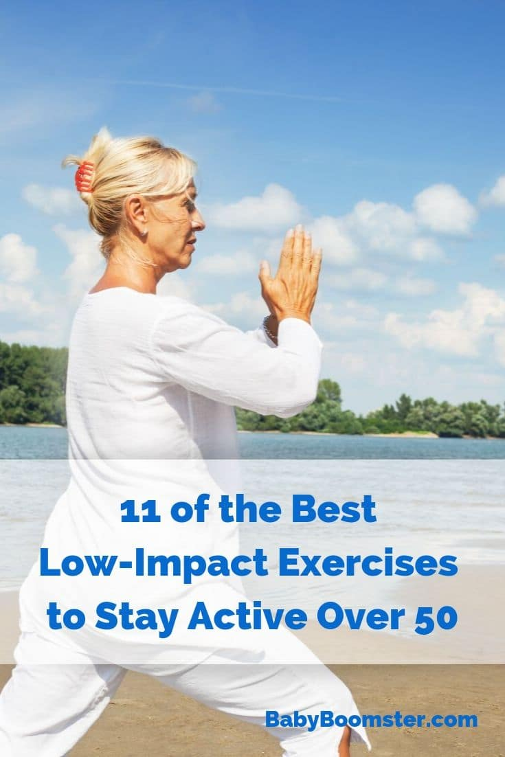 As Baby Boomers get older it's important to stay active and flexible. But, to avoid injury they may want to consider low-impact exercises to incorporate into their daily routines. #babyboomers #fitnessover50 #lowimpactaerobics #exercises #aging