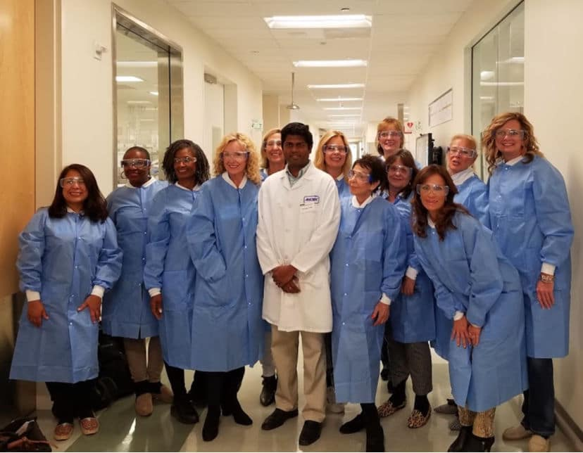 Touring Amgen Labs with Women Over 50 bloggers and influencers