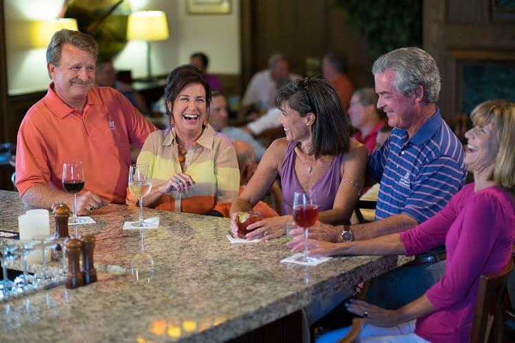 Socializing at The Landings Club