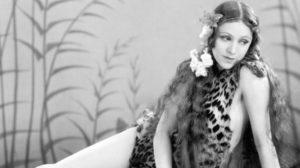 Vintage leopard skin model