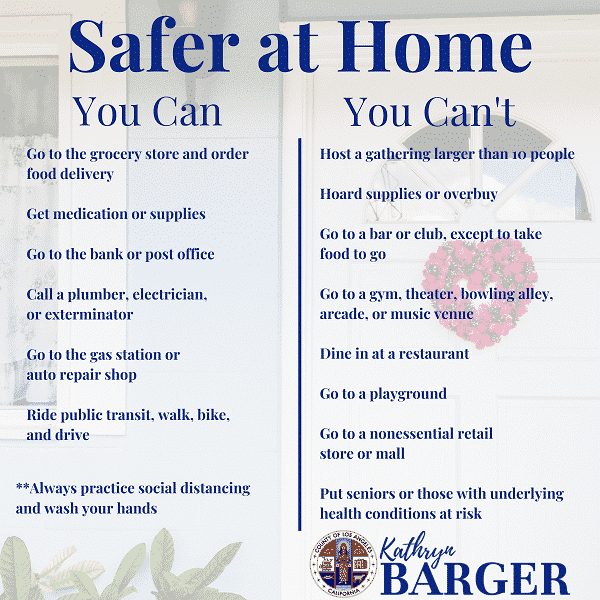 Safer at home - Isolation to protect each other