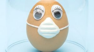 Egg with a mask