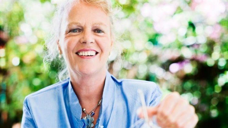 older woman feeling good