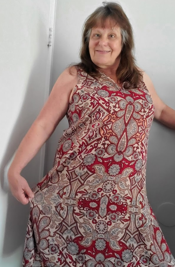 Paisley shift dress from Nordstrom