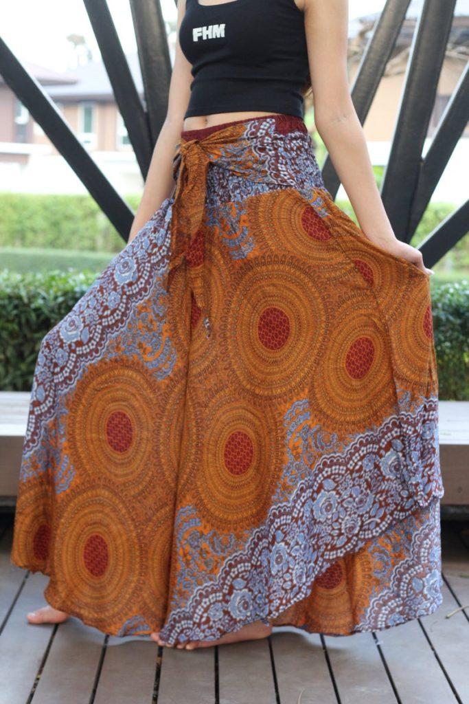 Gypsy Flare Maxi skirt on Etsy