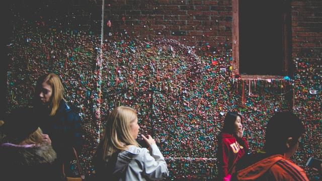 The Market Gum Wall in Seattle, Washington.
