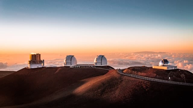 The top of Mauna Kea in Hawaii.