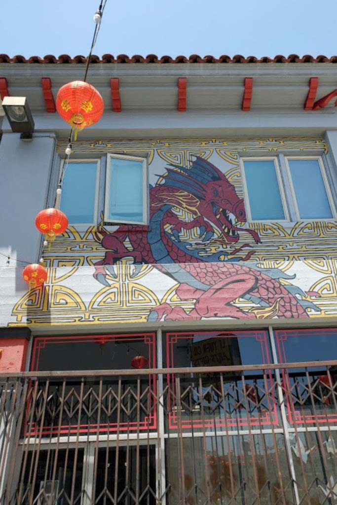Dragon Mural Art in Los Angeles Chinatown