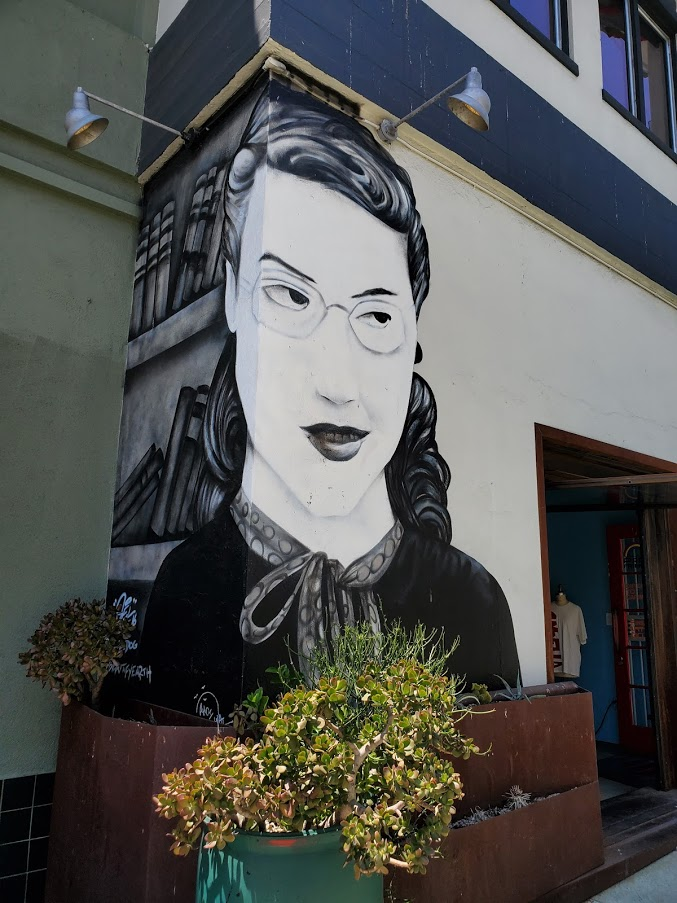 Mural of a woman in Los Angeles Chinatown