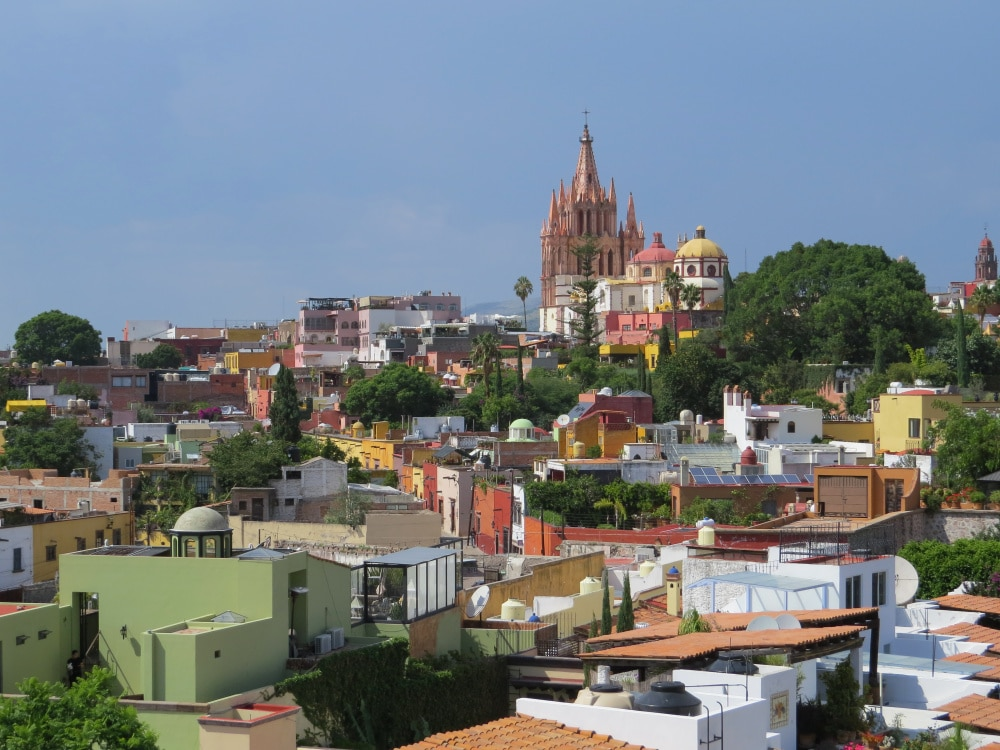 The view from the Luna Tapas Bar at the Rosewood Hotel in San Miguel de Allende
