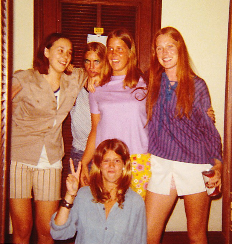 Girls at a boarding school in the 60s